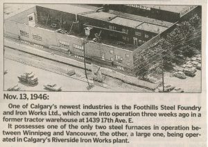 Foothills Opening in Calgary Herald